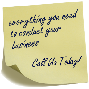 everything you need to conduct your business. contact us today